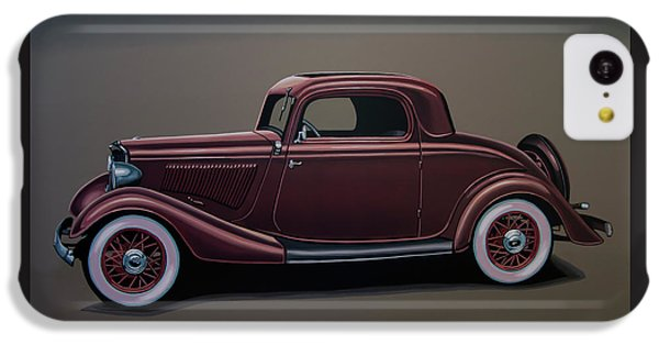 Falcon iPhone 5c Case - Ford 3 Window Coupe 1933 Painting by Paul Meijering
