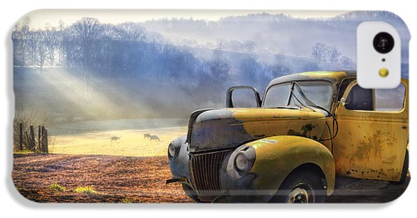 Rural Scenes iPhone 5c Case - Ford In The Fog by Debra and Dave Vanderlaan