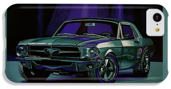Falcon iPhone 5c Case - Ford Mustang 1967 Painting by Paul Meijering