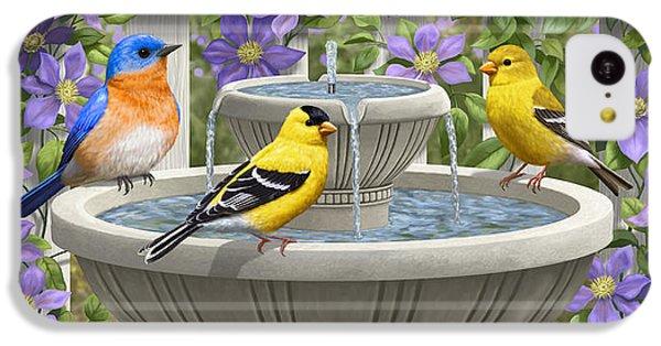 Fountain Festivities - Birds And Birdbath Painting IPhone 5c Case