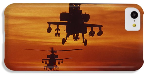 Helicopter iPhone 5c Case - Four Ah-64 Apache Anti-armor by Stocktrek Images