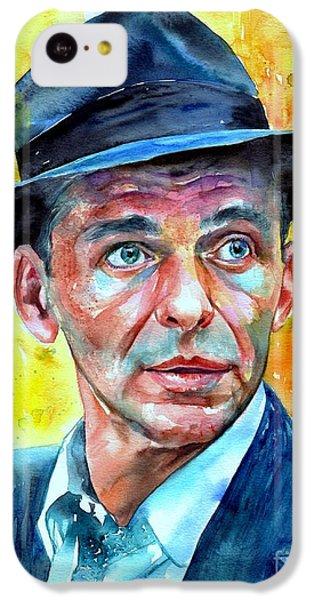 Frank Sinatra iPhone 5c Case - Frank Sinatra In Blue Fedora by Suzann's Art