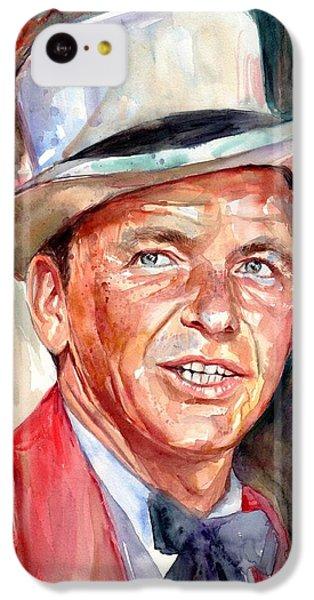 Frank Sinatra iPhone 5c Case - Frank Sinatra Portrait by Suzann's Art