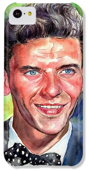 Frank Sinatra iPhone 5c Case - Frank Sinatra Young Watercolor by Suzann's Art