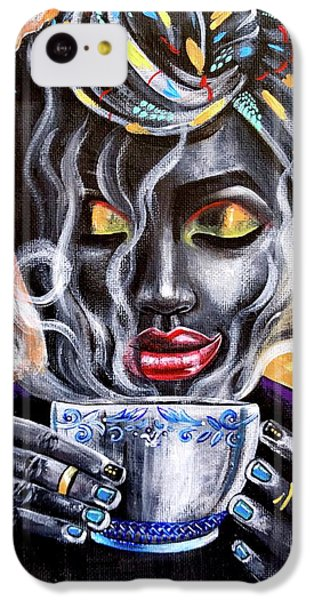iPhone 5c Case - Fresh Brewed by Artist RiA