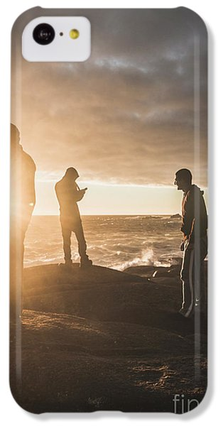 IPhone 5c Case featuring the photograph Friends On Sunset by Jorgo Photography - Wall Art Gallery