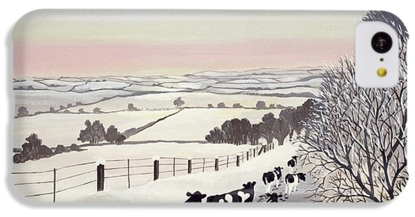 Rural Scenes iPhone 5c Case - Friesians In Winter by Maggie Rowe