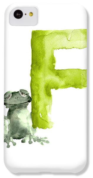 Frog Watercolor Alphabet Painting IPhone 5c Case by Joanna Szmerdt