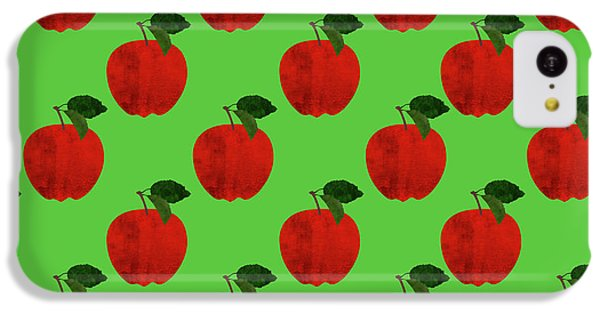 Fruit 02_apple_pattern IPhone 5c Case by Bobbi Freelance