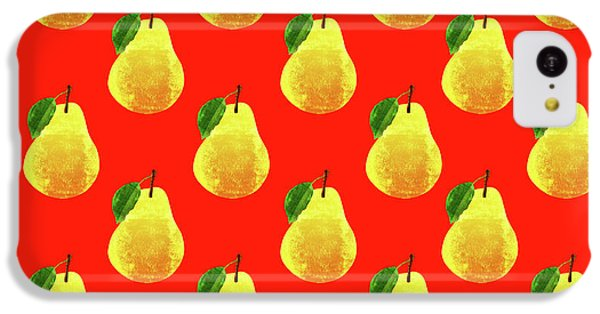 Fruit 03_pear_pattern IPhone 5c Case by Bobbi Freelance
