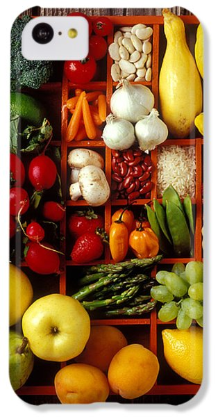 Carrot iPhone 5c Case - Fruits And Vegetables In Compartments by Garry Gay