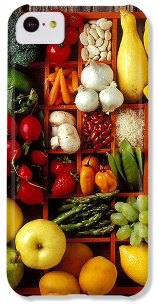 Fruits And Vegetables In Compartments IPhone 5c Case by Garry Gay