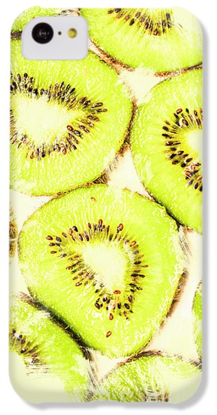 Full Frame Shot Of Fresh Kiwi Slices With Seeds IPhone 5c Case by Jorgo Photography - Wall Art Gallery