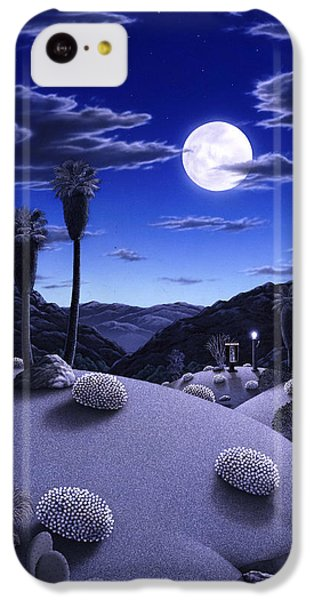 Desert iPhone 5c Case - Full Moon Rising by Snake Jagger