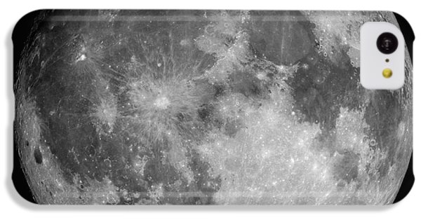 White iPhone 5c Case - Full Moon by Roth Ritter