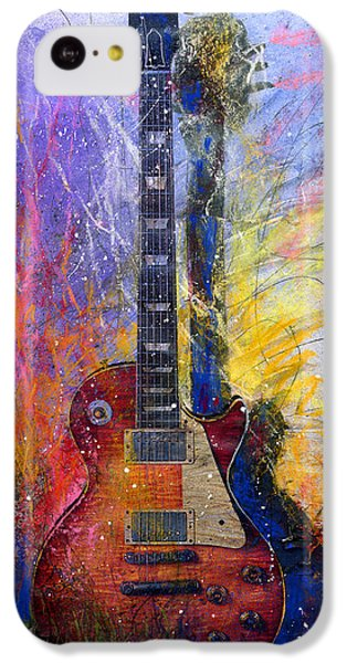 Guitar iPhone 5c Case - Fun With Les by Andrew King