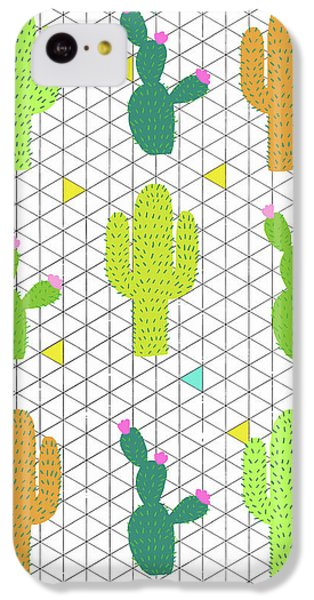 Funky Cactus IPhone 5c Case by Nicole Wilson