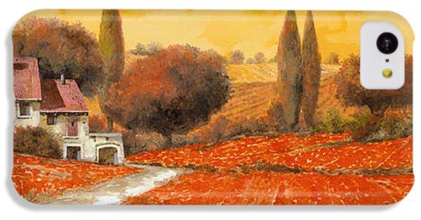 Landscape iPhone 5c Case - fuoco di Toscana by Guido Borelli