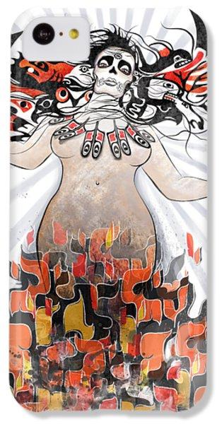 Raven iPhone 5c Case - Gaia In Turmoil by Sassan Filsoof