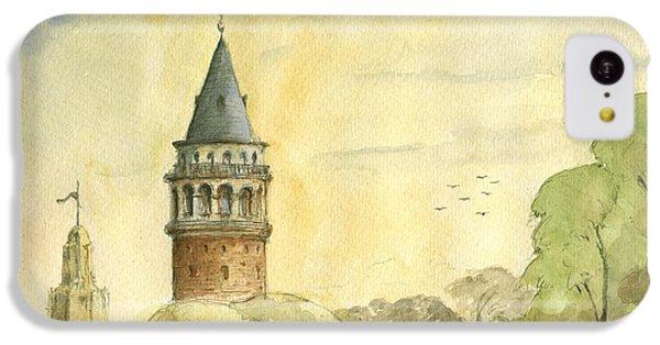 Turkey iPhone 5c Case - Galata Tower Istanbul by Juan Bosco