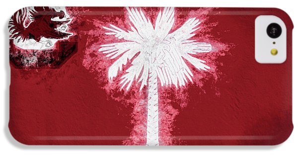 IPhone 5c Case featuring the digital art Gamecocks South Carolina State Flag by JC Findley
