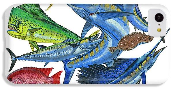 Gamefish Collage IPhone 5c Case by Carey Chen