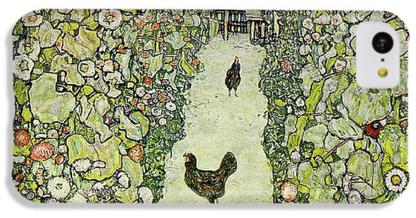 Rooster iPhone 5c Case - Garden With Chickens by Gustav Klimt