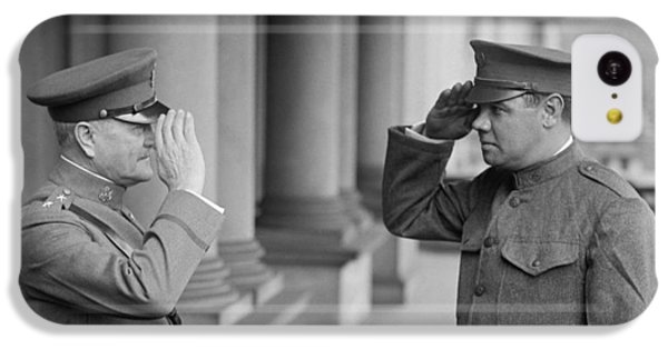General John Pershing Saluting Babe Ruth IPhone 5c Case by War Is Hell Store