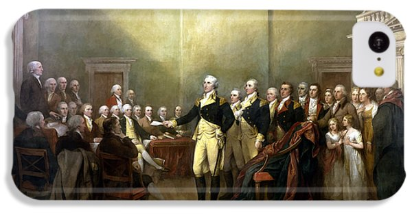 General Washington Resigning His Commission IPhone 5c Case by War Is Hell Store
