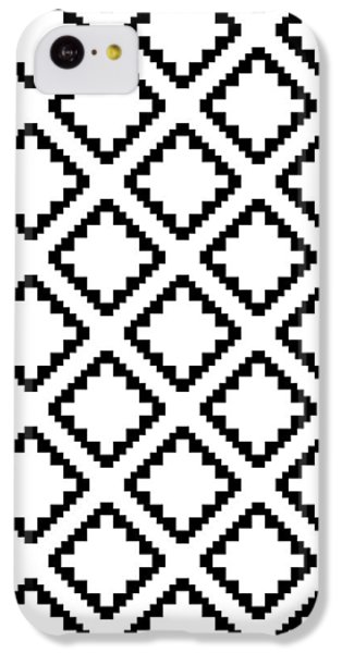 Geometricsquaresdiamondpattern IPhone 5c Case by Rachel Follett