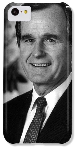 George Bush iPhone 5c Case - George Bush Sr by War Is Hell Store