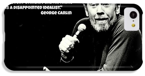 Johnny Carson iPhone 5c Case - George Carlin Art  by Pd