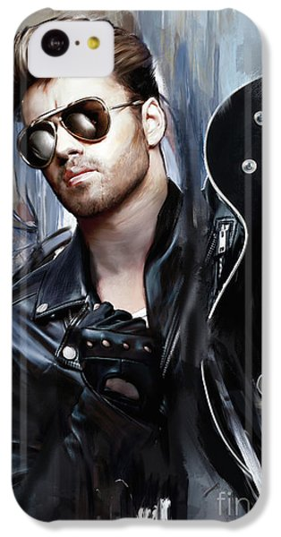 Elton John iPhone 5c Case - George Michael Singer by Melanie D