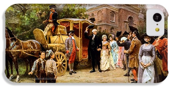 George Washington Arriving At Christ Church IPhone 5c Case by War Is Hell Store
