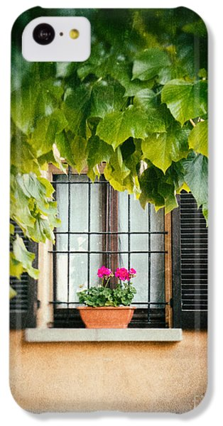 IPhone 5c Case featuring the photograph Geraniums On Windowsill by Silvia Ganora
