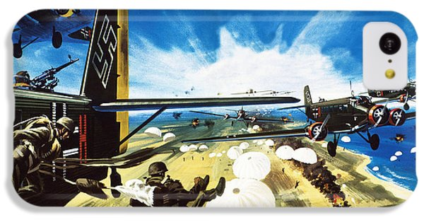 German Paratroopers Landing On Crete During World War Two IPhone 5c Case by Wilf Hardy