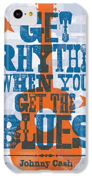 Get Rhythm - Johnny Cash Lyric Poster IPhone 5c Case