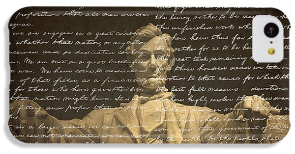 Lincoln Memorial iPhone 5c Case - Gettysburg Address by Diane Diederich