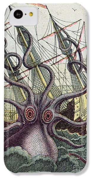 Giant Octopus IPhone 5c Case by Denys Montfort