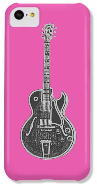 Guitar iPhone 5c Case - Gibson Es-175 Electric Guitar Tee by Edward Fielding