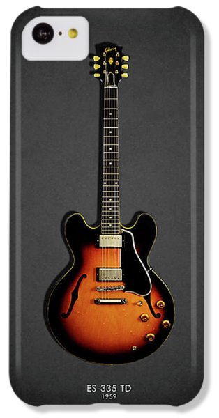 Guitar iPhone 5c Case - Gibson Es 335 1959 by Mark Rogan