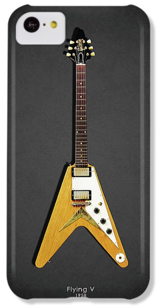 Guitar iPhone 5c Case - Gibson Flying V by Mark Rogan