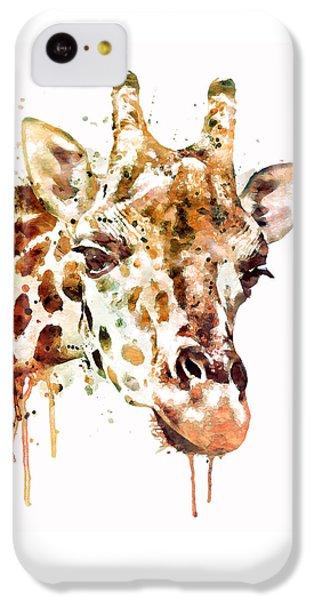 Giraffe Head IPhone 5c Case by Marian Voicu