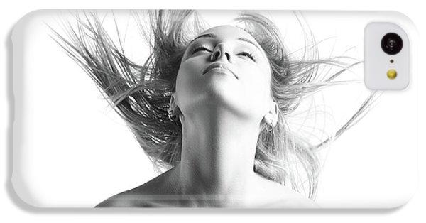 Girl With Flying Blond Hair IPhone 5c Case by Olena Zaskochenko