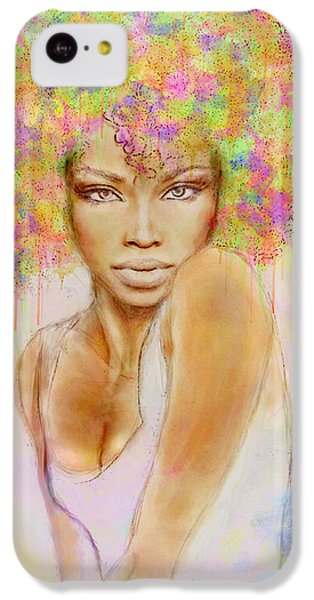 Girl With New Hair Style IPhone 5c Case by Lilia D