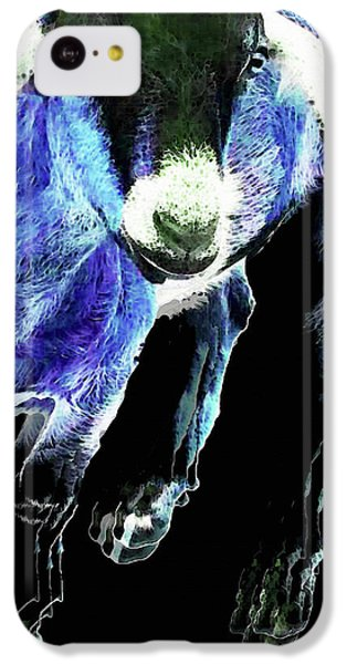 Goat Pop Art - Blue - Sharon Cummings IPhone 5c Case by Sharon Cummings