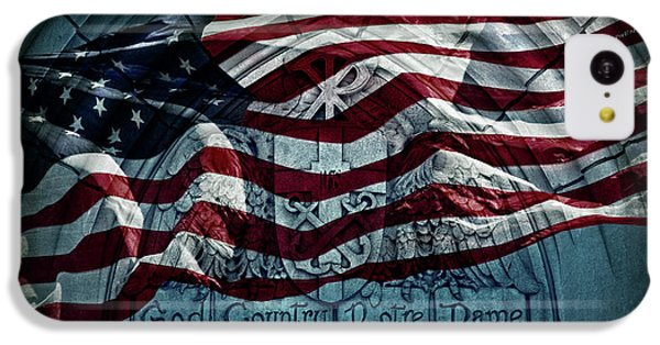 God Country Notre Dame American Flag IPhone 5c Case