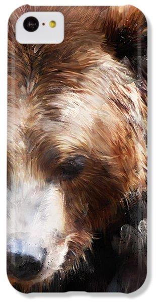 Bear iPhone 5c Case - Bear // Gold by Amy Hamilton