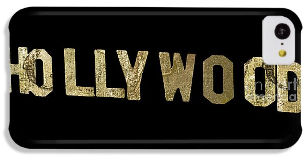 Beverly Hills iPhone 5c Case - Gold Hollywood Sign by Mindy Sommers