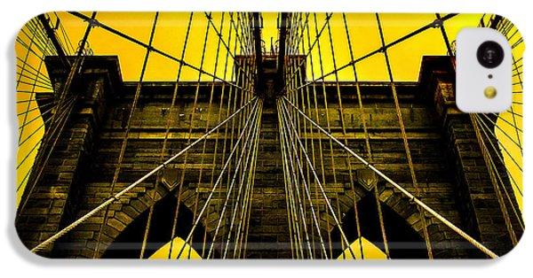 Brooklyn Bridge iPhone 5c Case - Golden Arches by Az Jackson